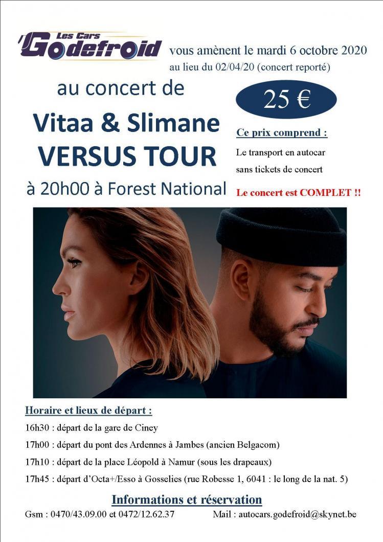 Vitaa slimane versus tour concert 2 reporte octobre