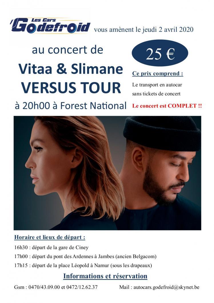 Vitaa slimane versus tour concert 2