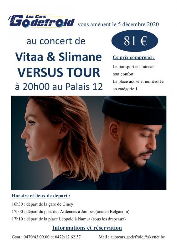 Vitaa slimane versus tour concert decembre