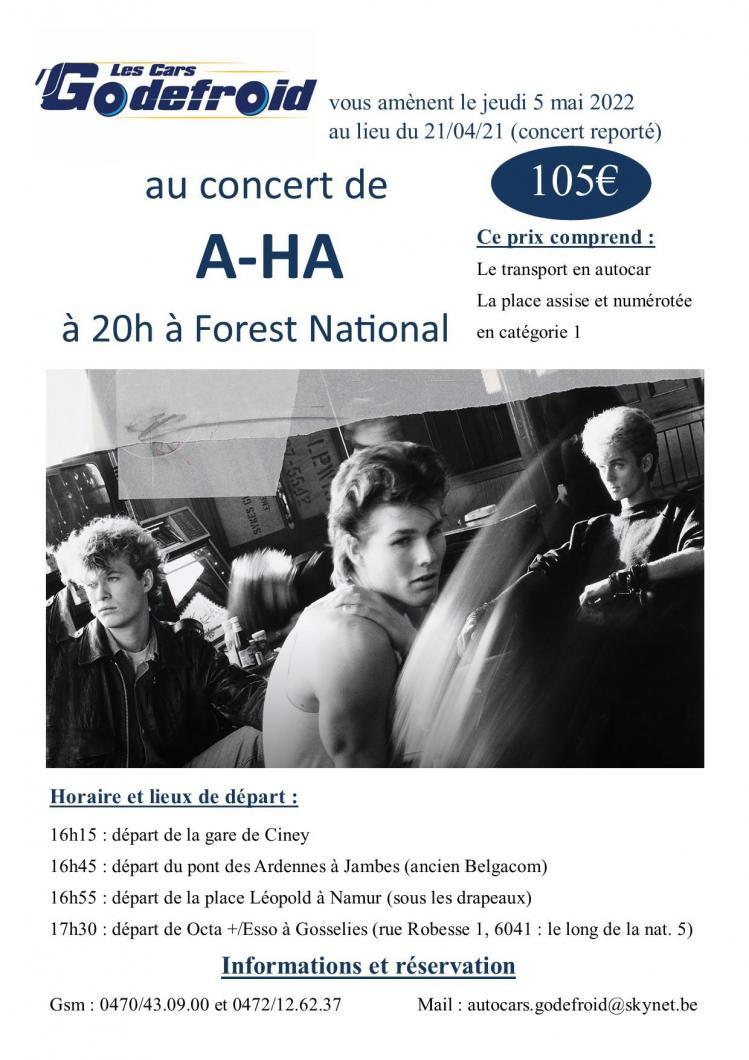 A ha concert 5 mai 2022 report 21 04 21 et 17 11 20