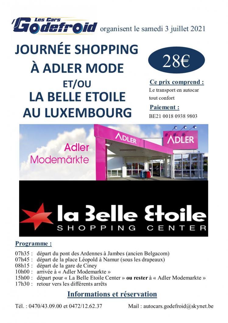 Affiche adler mode au lux 3 juillet 2021