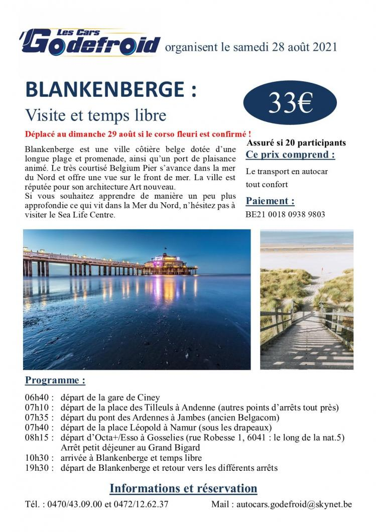 Affiche blankenberge 28 aout 2021