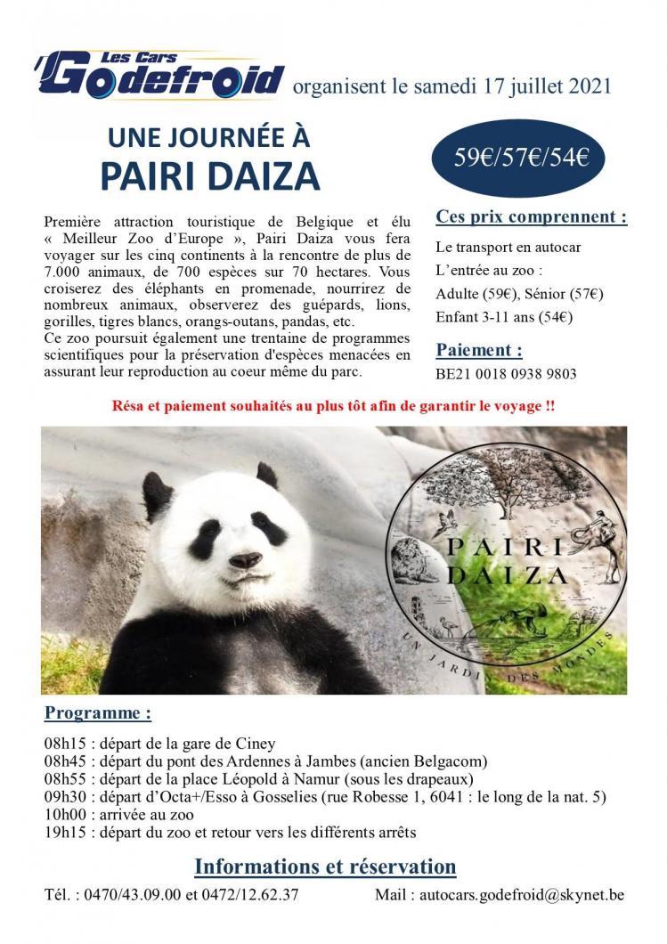 Affiche pairi daiza 17 juillet 2021