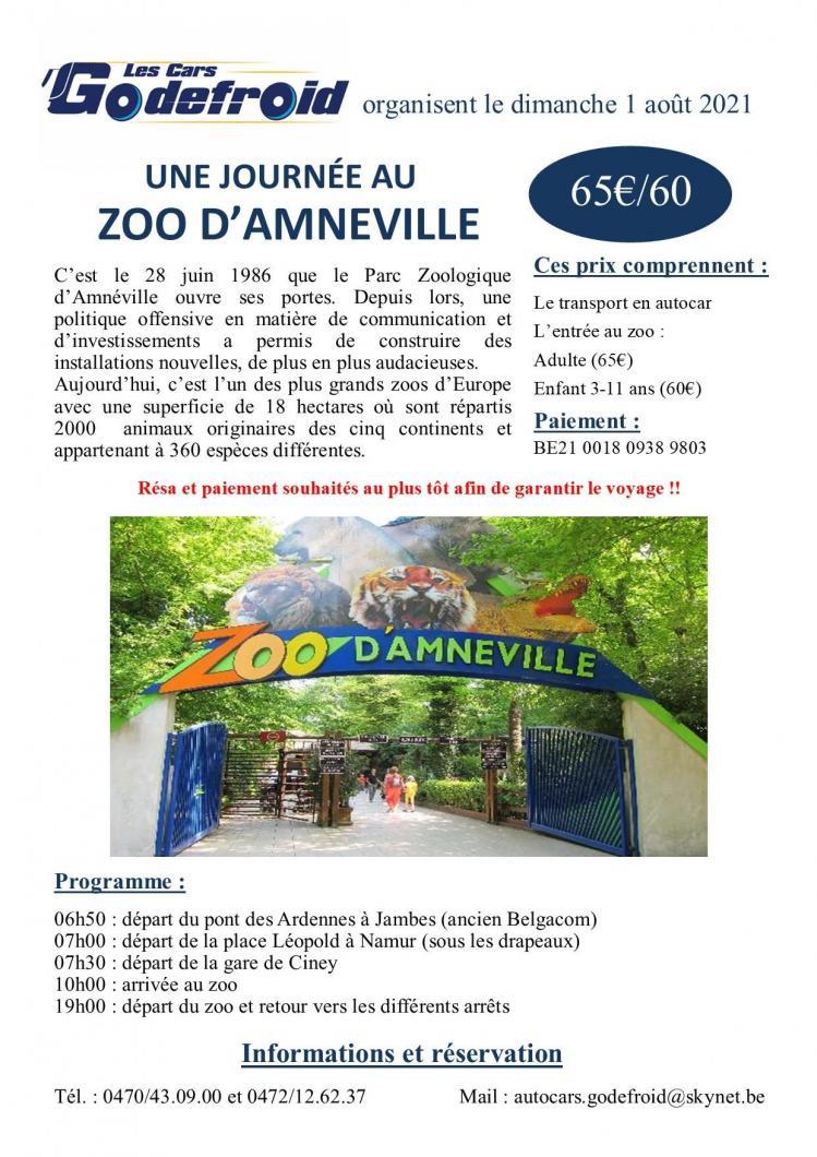 Affiche zoo amneville 1 aout 2021
