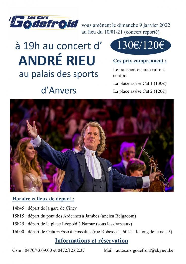 Andre rieu concert 9 janvier 2022 report 10 janvier 2021