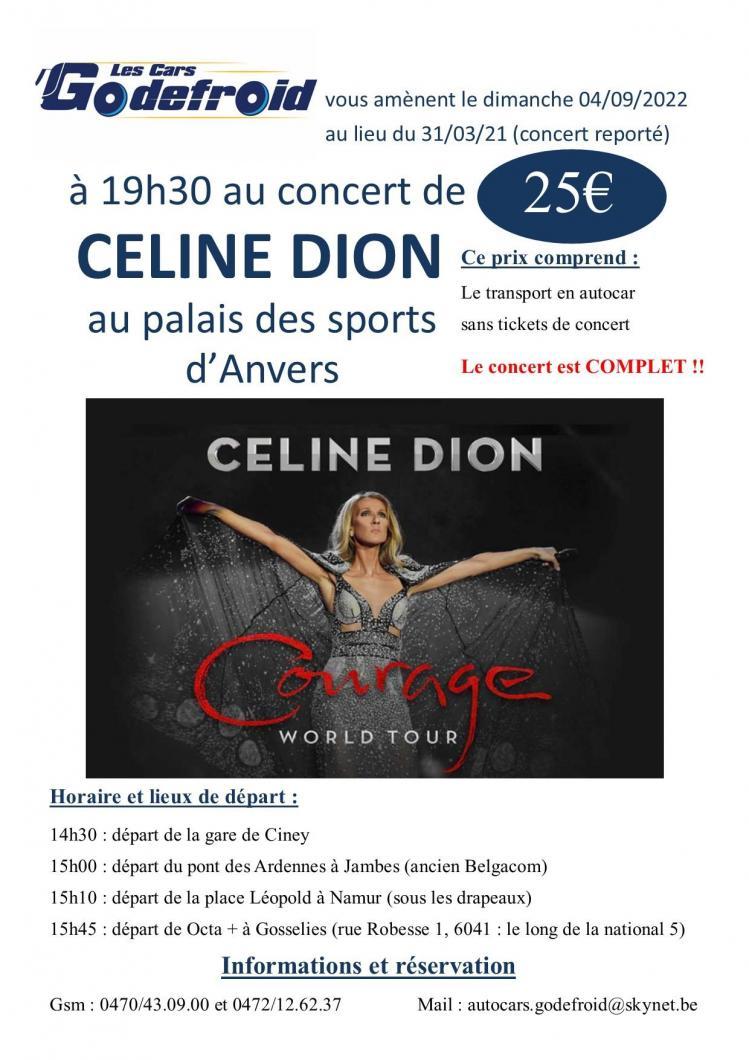 Celine dion concert 4 septembre 2022 report 31 mars 2021 et 30 mai 2020 3