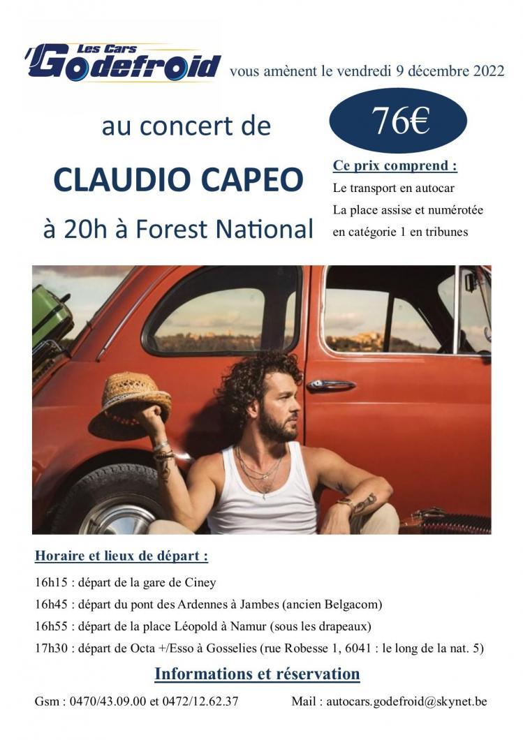 Claudio capeo concert 9 decembre 2022