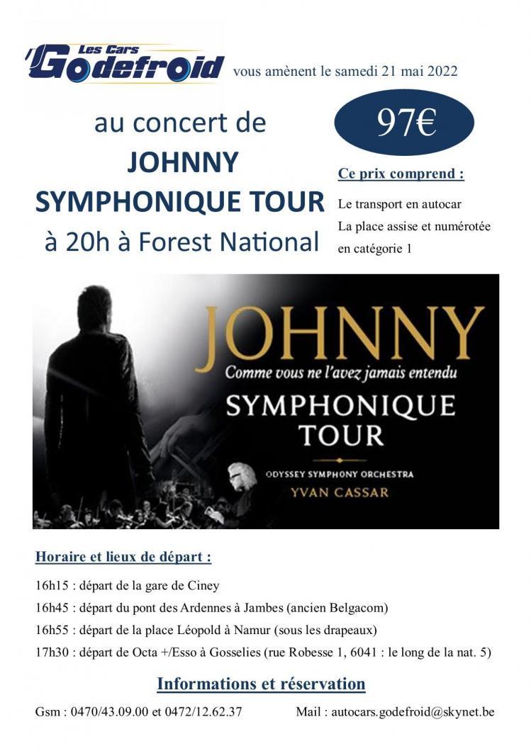 Johnny symphonique tour concert 21 mai 2022