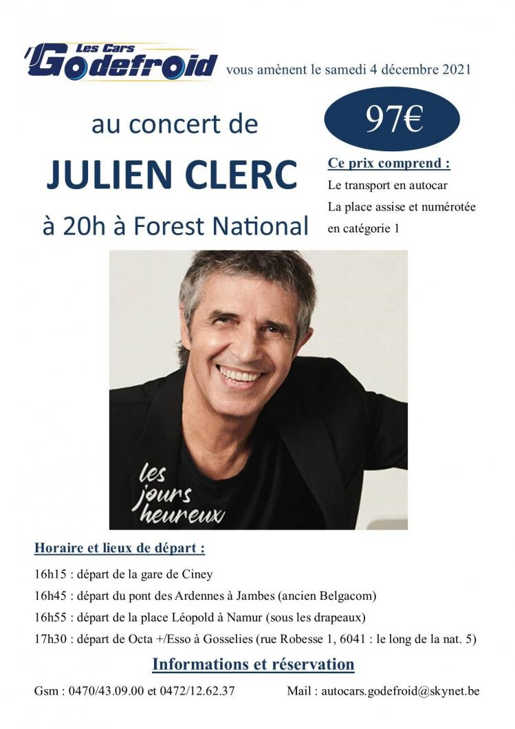 Julien clerc concert 4 decembre 2021