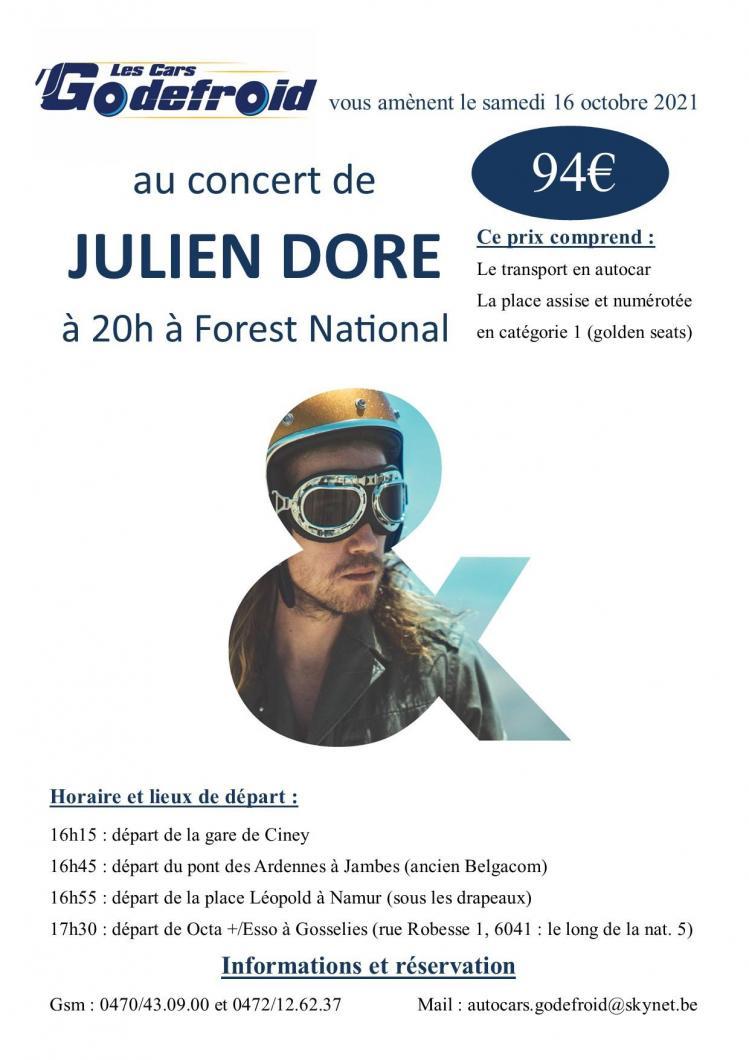 Julien dore concert 16 octobre 2021