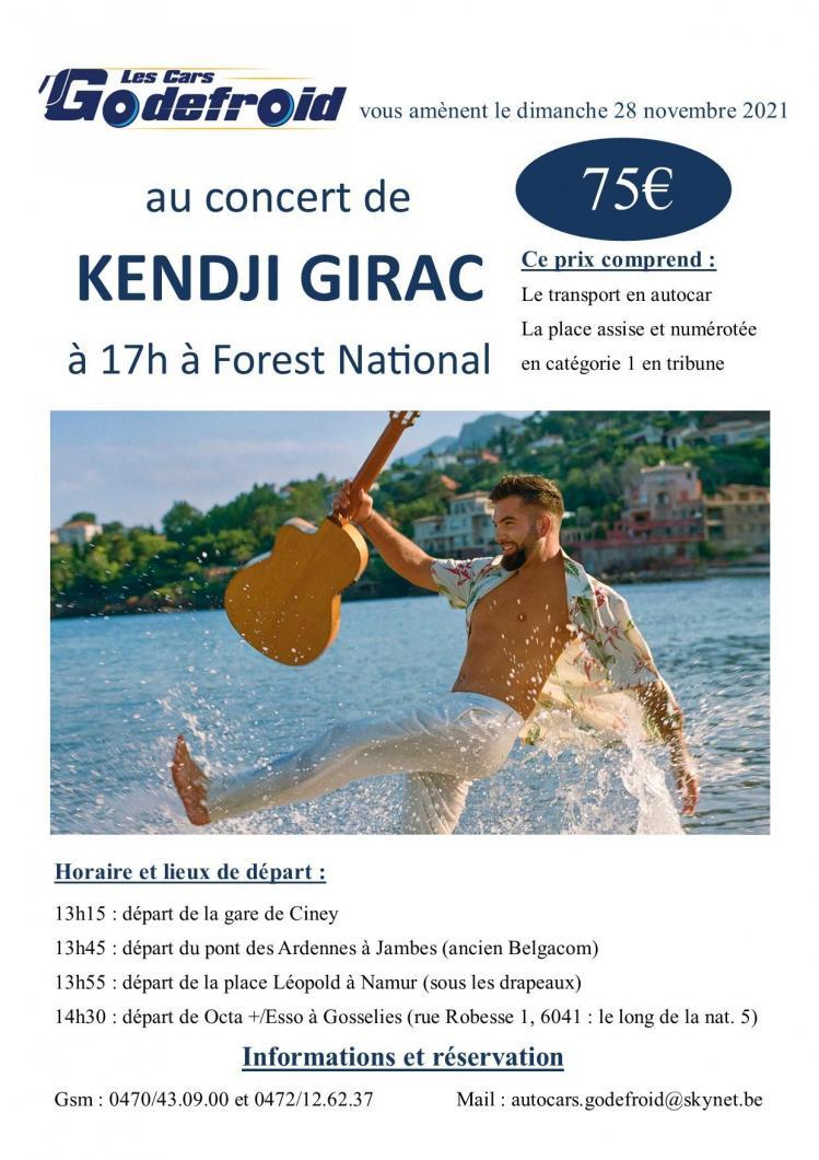 Kendji girac concert 28 novembre 2021