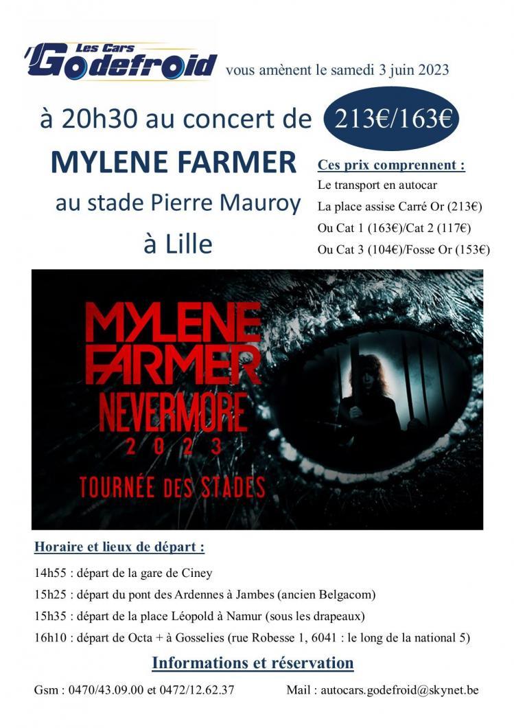 Mylene farmer lille juin 2023 concert