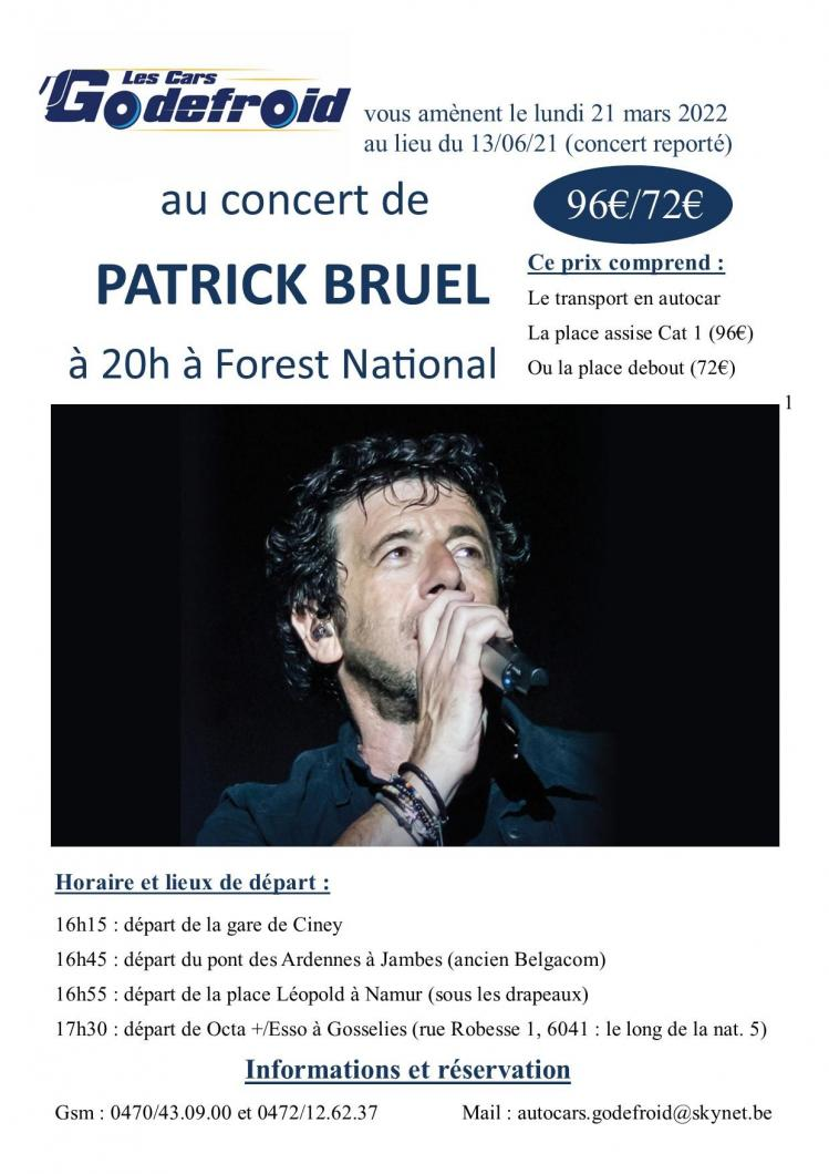 Patrick bruel concert 21 mars 2022 report 6 juin 2021