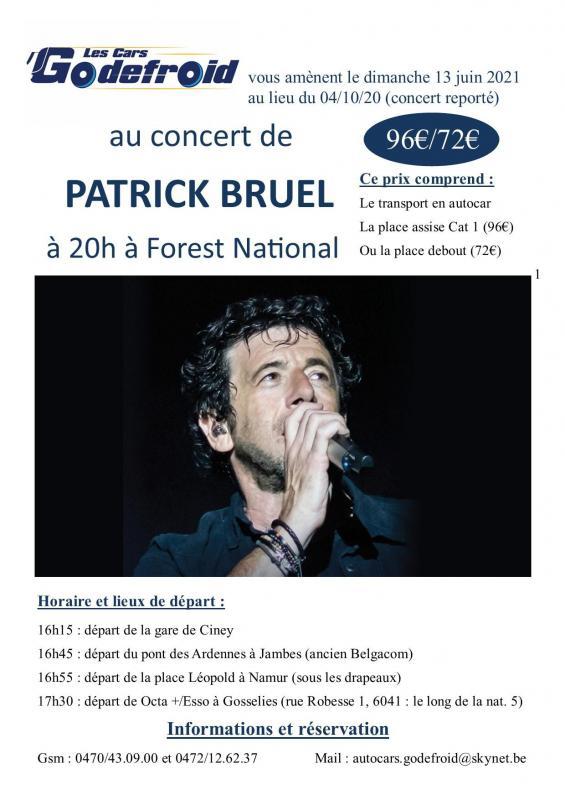 Patrick bruel concert octobre2020 reporte en juin 2022