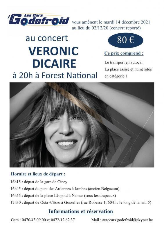 Veronic dicaire concert decembre 2020 reporte decembre 2021